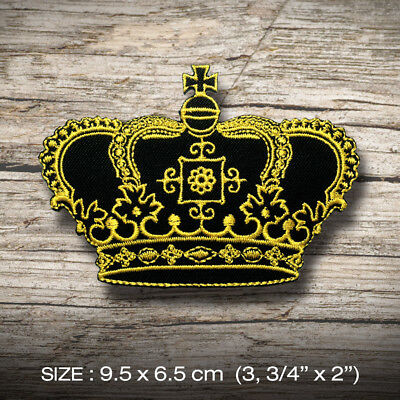 new CROWN Embroidered Patch Iron on, Sew, Decorate hat jacket bag vest etc. King
