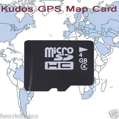 New 4GB Kudos GPS SD Map Card For North America For Car Stereo Radio Player