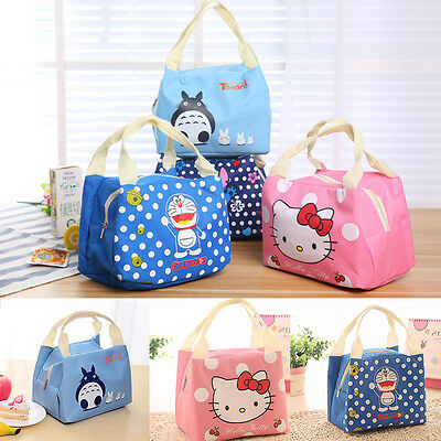 Cute Girl's Portable Cooler Picnic Pouch Bag Insulated Thermal Lunch Storage Box