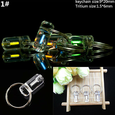 Acrylic Keychain Self illuminating GLOW LIGHT 25 yrs Tritium Marker Safe ST332-1