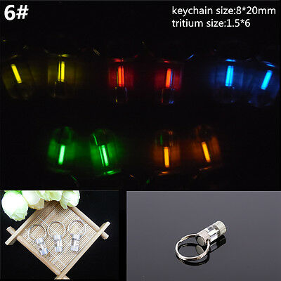 Acrylic Keychain Self illuminating GLOW LIGHT 25 yrs Tritium Marker Safe ST332-6