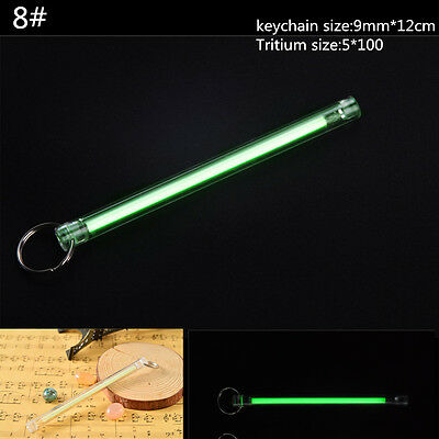 Acrylic Keychain Self illuminating GLOW LIGHT 25 yrs Tritium Marker Safe ST332-8