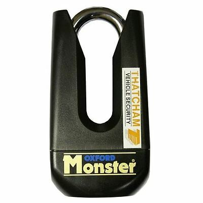 Oxford Monster Motorcycle Motorbike Disc Lock Shackle Thatcham Strong Black New