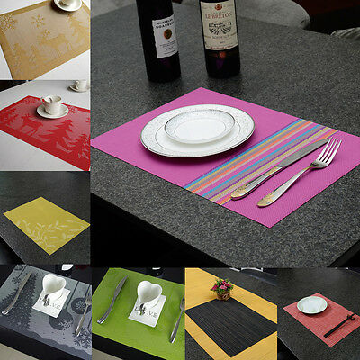 yazi PVC Placemats Heat Insulation Home Party Dining Decor Table Mats Pad