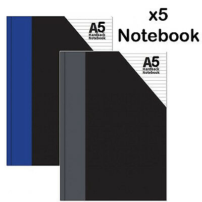 A5 Hardback Notebook rulled lined writting paper pad exercise book office school