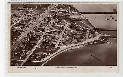 INVERGORDON FROM THE AIR: Ross-shire postcard (C20010)