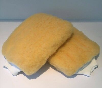 2 x Professional Detailing Valeters Car Wash & Wax Mitt Glove Synthetic Wool