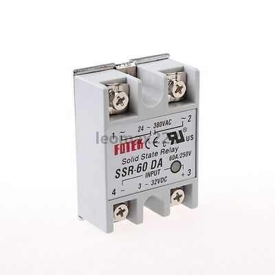 New 1pcs SSR-60DA SSR Solid-state Solid State Relay 60A Output AC24-380V