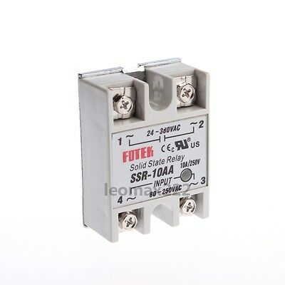 New SSR-10AA AC 24-380V Output AC 80-250V Input Single Phase Solid State Relay
