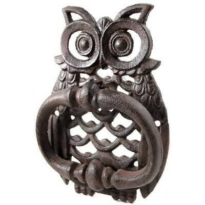 NEW Owl Door Knocker - Hoot 18cm Cast Iron Home Decor Vintage Traditional Unique
