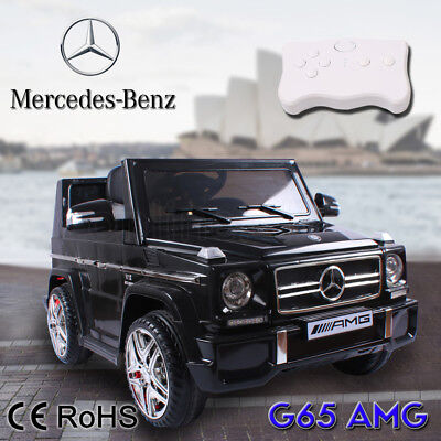 Mercedes Benz Licensed G65 AMG Kids Electric Ride on Car Children Toy Remote 12V