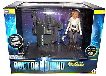 """5"""" Doctor Who River Song with Pandorica Chair Action Figure Set"""