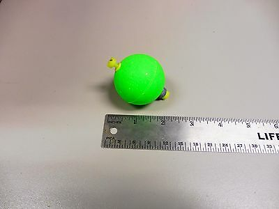 """Fishing Bobbers 12 New Green 1.75"""" Weighted Snap-On Round Foam Fishing Floats"""