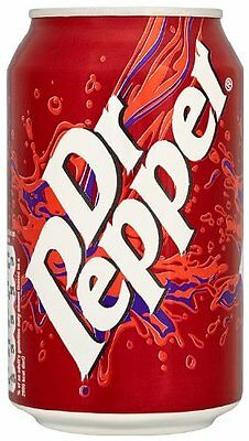 24 X 330 ml Dr Pepper Sparkling Soft Drink Cans Distinct Blend of Spice & Fruit