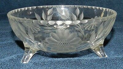 "Hughes Cornflower 6"" 3 footed bowl - Early vintage piece dated to 1924-25"