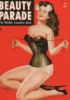 Vintage Peter Driben Pinup Girl Beauty Parade A2 Canvas Giclee Print Poster 1