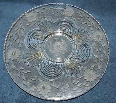 "1930's Hughes Cornflower Paden City 'Largo' Serving Platter/Plate 15"" diameter"