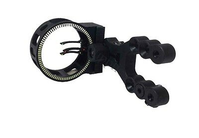Archery 3 Pin Fibre Fiber Optic Compound Bow Hunting Sight Equipment Scope
