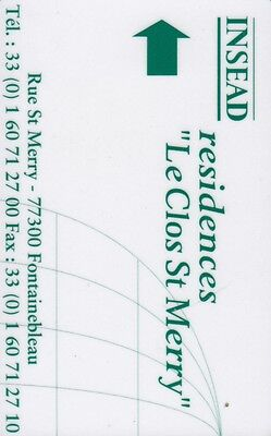 """Clef Hotel  """"le Clos St Mery / Fontainebleau"""" (Hotel Key)"""