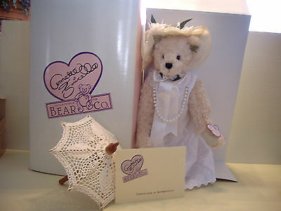"""Annette Funicello 17""""H Plush Bear """"Rosemary"""" With Small Umbrella"""
