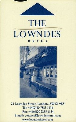"""Clef Hotel  """"the Lowndes""""  (Hotel Key) (Type 1)"""