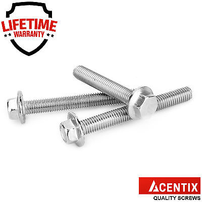 M5 M6 M8 M10 A2 Stainless Steel Flanged Hexagon Set Screws Flange Hex Head Bolts
