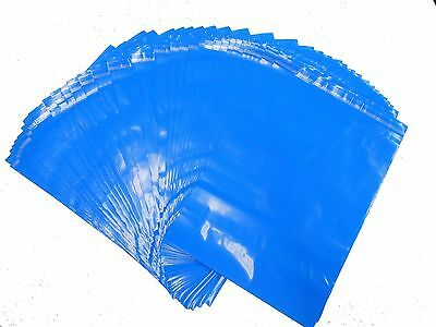 """True Blue COLORED TINTED PLASTIC Mailing Bags- 13 x 10""""   500 BAGS"""