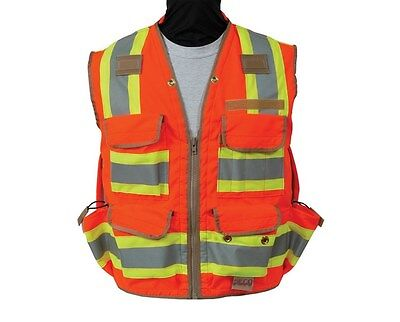 Seco 8265-Series Class 2 Surveyors Utility Vest Fluorescent All Sizes S-4XL