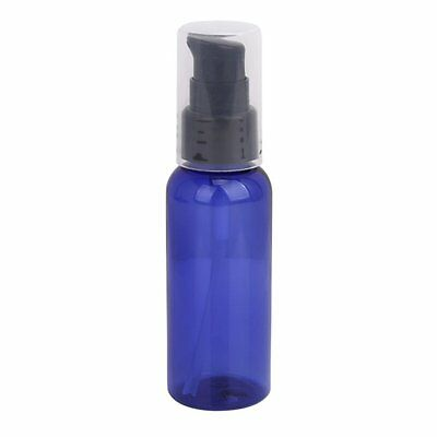 3 x 50ML Refillable Lotion Treatment Pump Bottle with Cap - Blue and Black DT