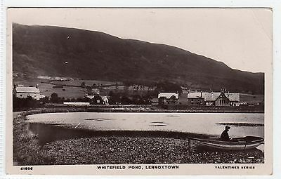 WHITEFIELD POND, LENNOXTOWN: Stirlingshire postcard (C4629).