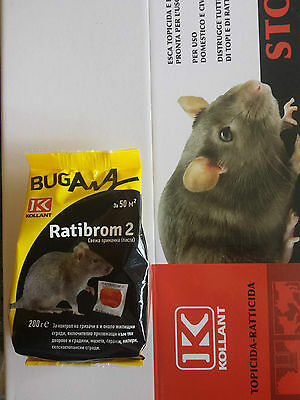 Ratibrom 2 pasta- poison mice and rats 200 g.Professional Paste Bait Rodent