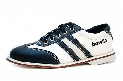 Bowlio Torino - Leather Tenpin Bowling Shoes in black and white for men and wome