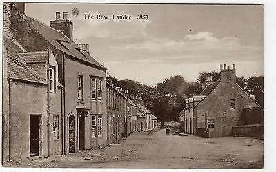 THE ROW, LAUDER: Berwickshire postcard (C4781).