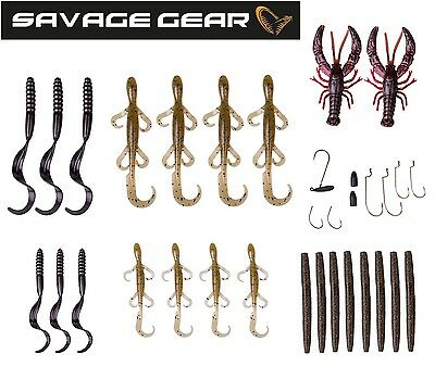 Savage Gear Black Bass Pro Pack Kit - 33-teilig, Köderset für Barsch