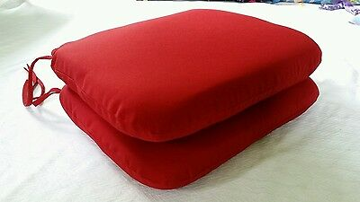 Pillow Perfect Indoor/Outdoor New Soild Seat Cushion, Red, Set Of 2