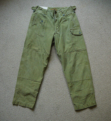Vintage 1964 1960s Pattern British Army Sateen Combat Trousers
