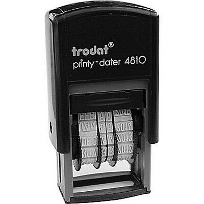 Trodat 4810 Mini Date Stamp, Self-inking Dater, 3mm Type Size, BLUE INK, 2017