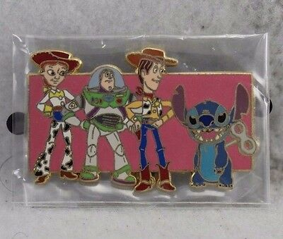 Disney Auctions P.I.N.S. Stitch And Toy Story Gang LE 1000 Pin Buzz Jessie Woody