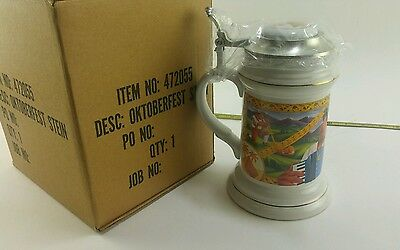 Vintage New NOS Smoking Joe Camel Porcelain Octoberfest Beer Stein Mug W/ Lid