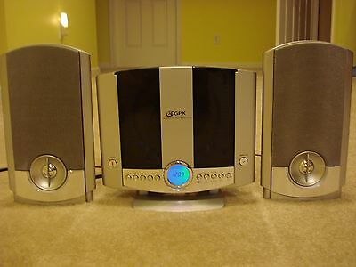 GPX Home Music AM/FM Radio CD System Player Speakers Stereo Alarm WALL MOUNT