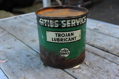 Vintage Cities Service Trojan Lubricant  6.25 x 6.25 x 6.25