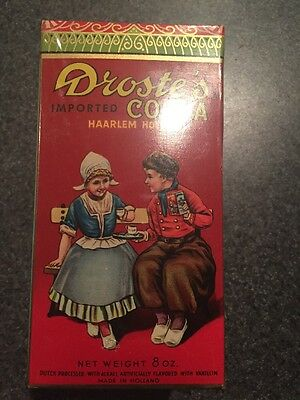 Vintage Unopened 1960s Droste's Container Of Chocolate Cocoa Sealed Full 8 Ounce
