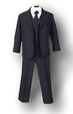 Boys Suits (2T - 20) - Dark Navy - Kids Formal Wear - Black, Gray, Khaki, White
