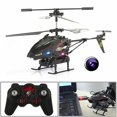S977 3.5CH Camera Channel RC Metal Helicopter Gyro Radio Remote Control Black