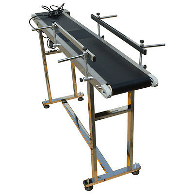 59''x 7.8'' Electric PVC Belt Conveyor 110V,Double Fence,Best Price Hot Selling,