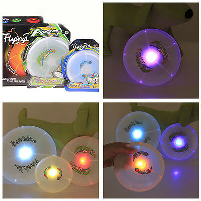 1x LED Light Up Multi Color Flying Disk Outdoor Dog Puppy Toys Camping Frisbee
