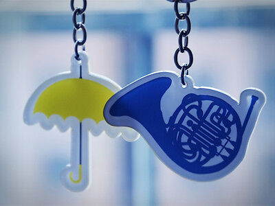TV Serious How I Met Your Mother Yellow Umbrella Blue Horn Key Chain Keyring