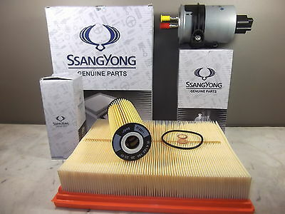 Genuine Ssangyong Actyon 2.0L Turbo Diesel Filter Pack (Oil + Air + Fuel Filter)