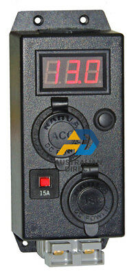 KICKASS Control Box With Volt Meter Dual USB Cigarette Anderson Outlets
