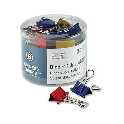 "Business Source Binder Clip - Small - 0.75"" Width - 36 / Pack - Assorted 65361"